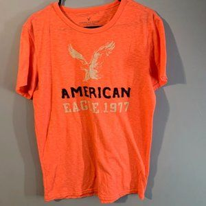 Men's American Eagle T-Shirt Size M Color Orange